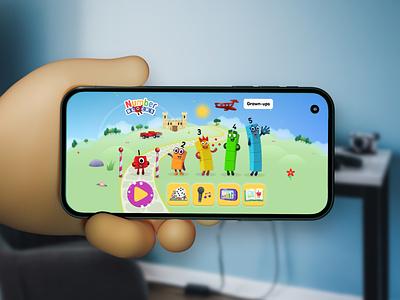 Numberblocks and Alphablocks app UI design educational children game design world numbers phone app iphone ux alphablocks numberblocks