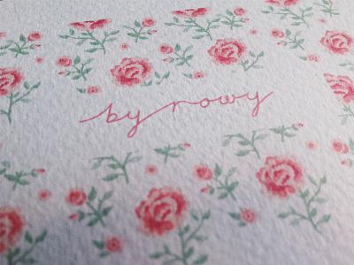 by rowy logo branding floweriest pretty girly flower pattern lettering