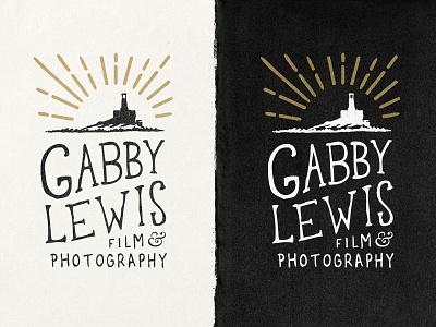 Gabby Lewis: Film & Photography logo branding lighthouse film photography swansea