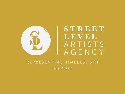 Street Level Artists Agency design concert gig band music logo agency artist level street