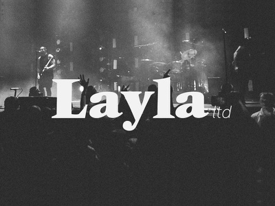 Layla ltd london concert brand gig music layla design logo