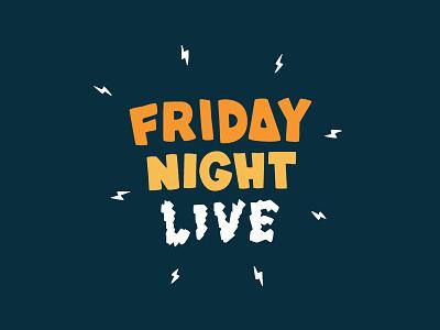 Friday Night Live logo youth group kids club live night friday logofolio design logo