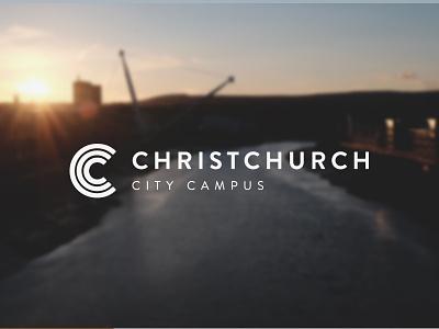Christchurch City Campus Logo branding logomark logofolio newport ccc design church logo