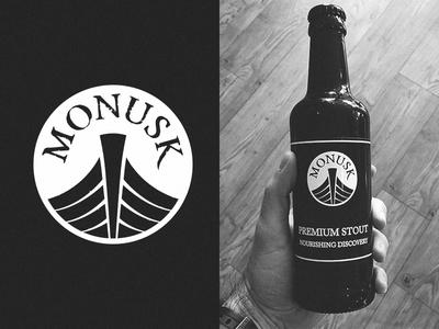 Monusk Deli Logo wales cafe deli brand stout beer newport design logo