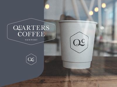Quarters Coffee logo design coffee shop ethical drink food freelance brand branding wales quarters coffee newport