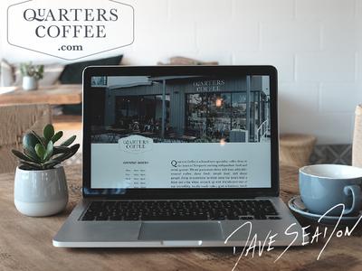 Quarters Coffee Website coffee shop development ethical drink food freelance brand wales quarters coffee website newport