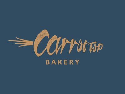 Carrot Top Bakery Logo bunny tasty cake brownies carrot design logo bakery newport