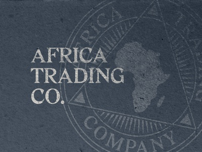 Africa Trading Co. label badge coin typogaphy brand african logo stamp craft africa
