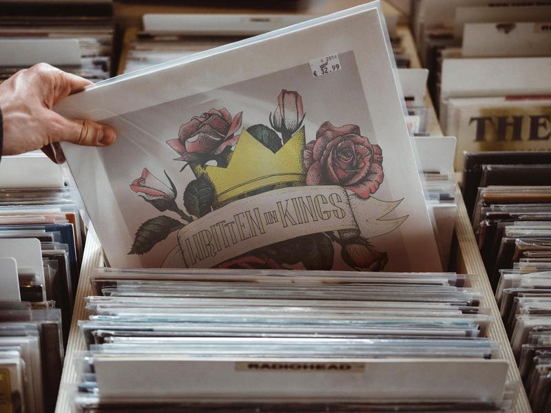 Written In Kings Album Artwork lettering vinyl thorns music christian banner crown rose illustraion album cover