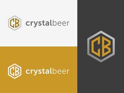 Crystal Beer pint bar pub white black shiney crystal clean glass gold beer logo