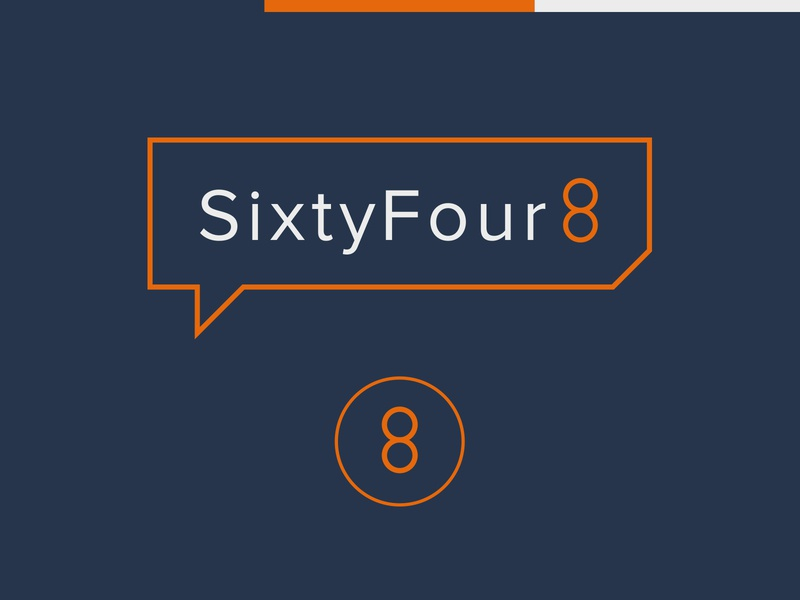 SixtyFour8 Logo rebate icon design colour palette logo construction money accounting tax