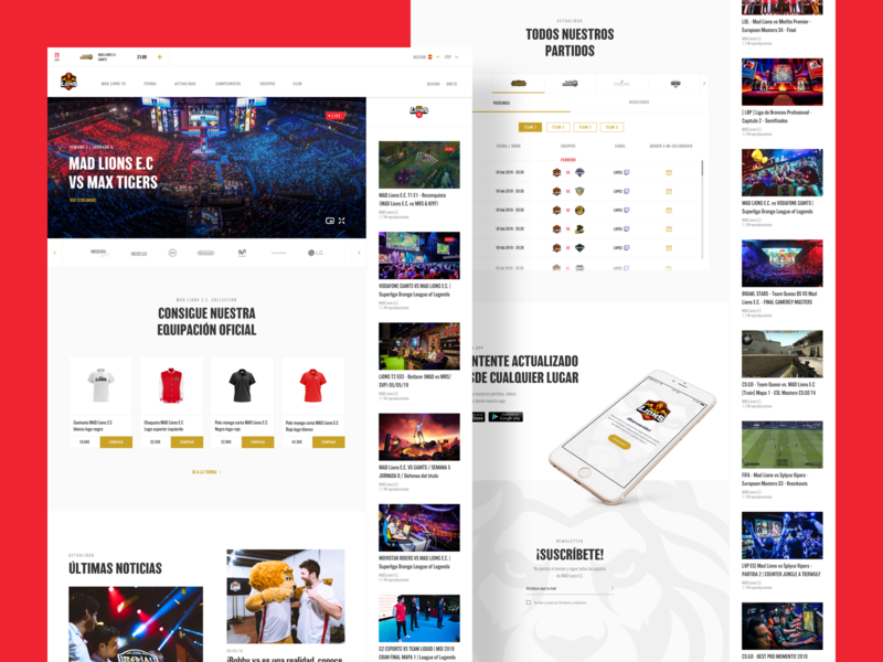 MAD Lions® full web redesign.