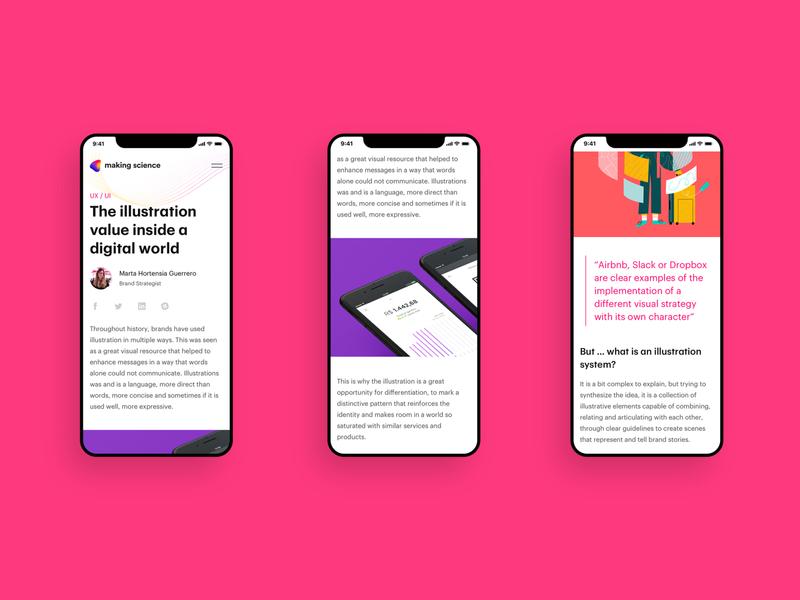 Making Science® mobile web design.
