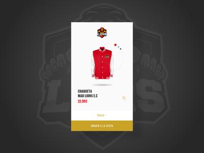 MAD Lions® e-shop product card.