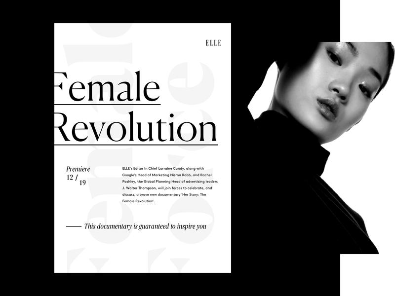 Poster design for ELLE.