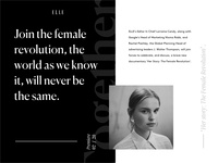 """Female force"" documentary editorial concept design for ELLE."