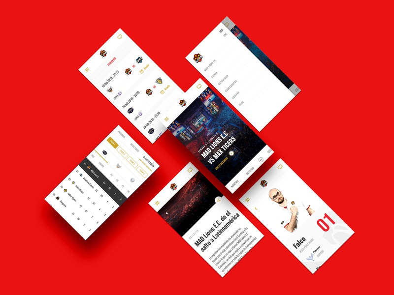 MAD Lions E.C® responsive design overview.