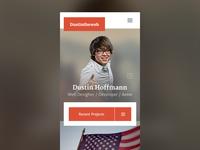dustintheweb.com - Mobile Preview