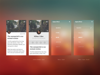 Mobile Blog Layout - Visual Design