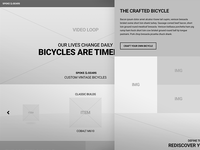 Spoke & Gears - Home Wireframe home page wireframe landing page minimal ux website layout ui simple grid