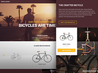 Spoke & Gears - Home website layout ui grid landing page home page bicycles minimal simple