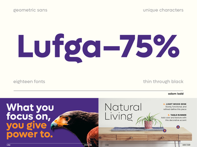 Lufga Font Family display text retro design simple modern lettering vintage typography typeface font type