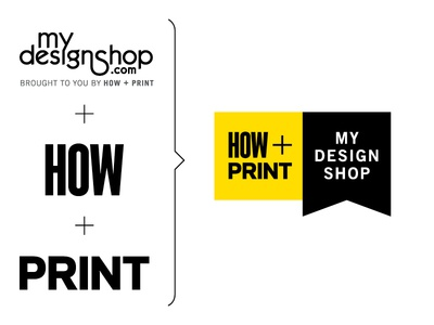 HOW + Print My Design Shop Logo Evolution how print design logo square grid lockup redesign brand yellow