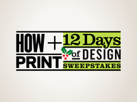 HOW + PRINT: 12 Days of Design Sweepstakes
