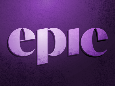 Epic Type 2 contrast lettering graphic type texture