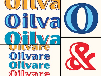 Oilvare Layered Typeface layers sans serif retro vintage texture rough typography handmade hand drawn typeface type font