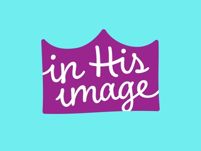 In His Image Dolls Logo kids fun youth font lettering custom typeface script crown logo