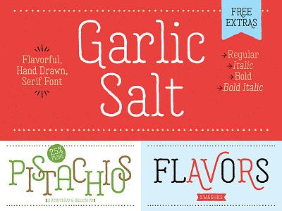 Garlic Salt Font packaging food organic serif typeface hand drawn type font