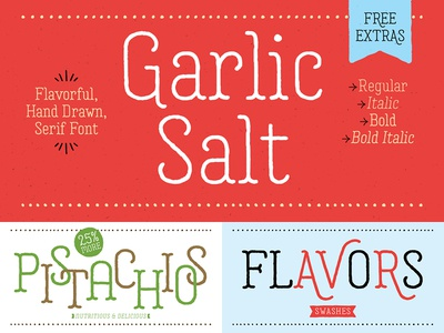 Garlic Salt Font packaging food organic serif typeface hand drawn type font