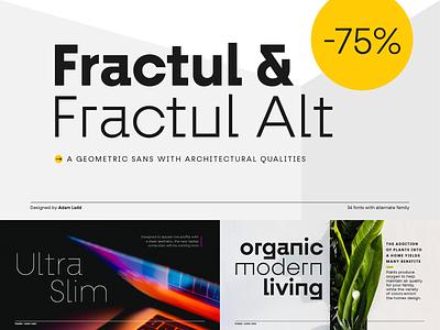 Fractul Font Family geometric sans serif modern typography branding ui design font typeface logo type