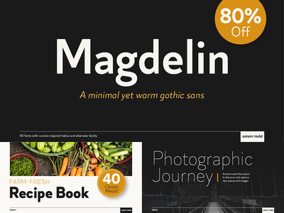 Magdelin Font Family clean simple vintage modern logotype grotesque gothic sans serif font design typography typeface font type