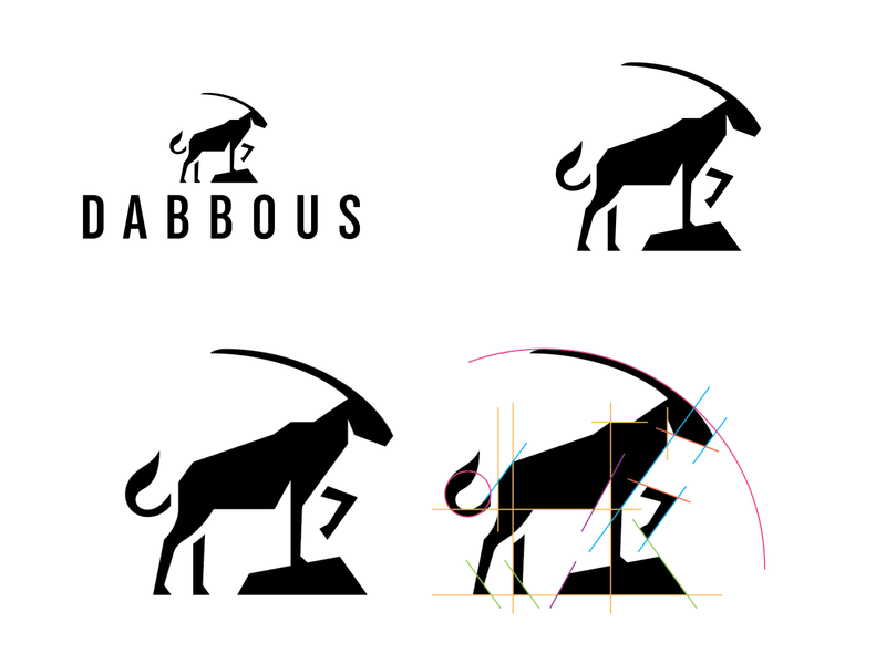 Dabbous Logo sans serif grid clothing fashion geometric geometry black  white strong bold modern animal logo