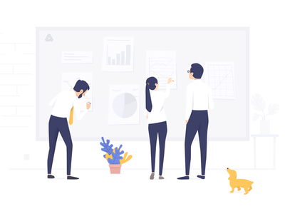 Team collaboration teamwork illustration