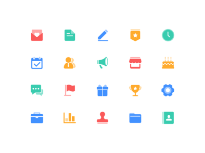 Function icons file birthday flag date setting write store gift friends recently collection icon