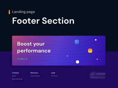 Footer Design digital desktop designs product minimalism minimal gradient graphic creative webdesign website landing page designer ho chi minh vietnam