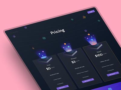 Pricing Page Design icon branding vietnam ho chi minh illustration app design gradient ui landing page ui design