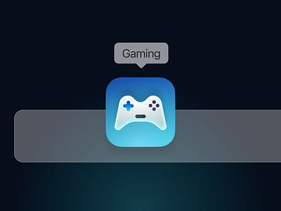 MacOS Icon For Gaming ho chi minh vietnam illustration gradient icon design skeurmorphism smooth big sur macos icon