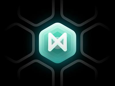 The MX vietnam ho chi minh branding logo design illustration gradient