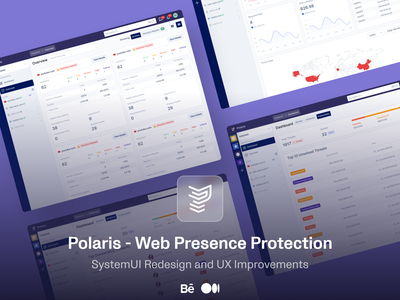 Polaris Design Stories on Behance and Medium soon systemui systemui dashboard ui usability dashboard enterprise app professional clean ux design ui design cybersecurity