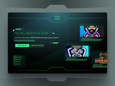 Gaming Landing Page ho chi minh futuristic game flat hud gaming ui design vietnam landing page