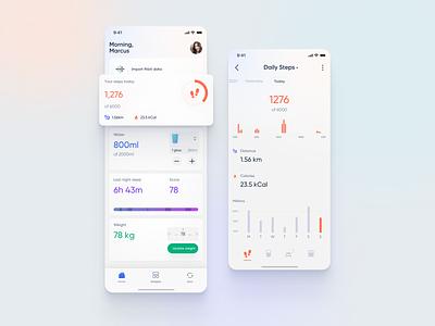 Fitness Tracker trending ux homepage health app fitness app ui