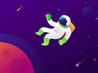 Space Astronaut ho chi minh viet nam bright colors gradient illustration