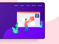 We are #1 - Web Illustration