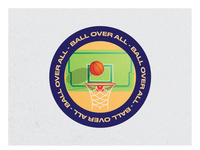 Basketball Coaster - Sticker Mule Playoffs