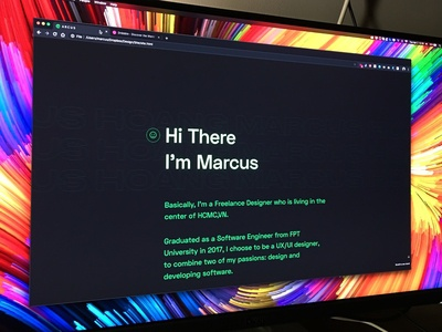 My Personal Website - marcushoang.com