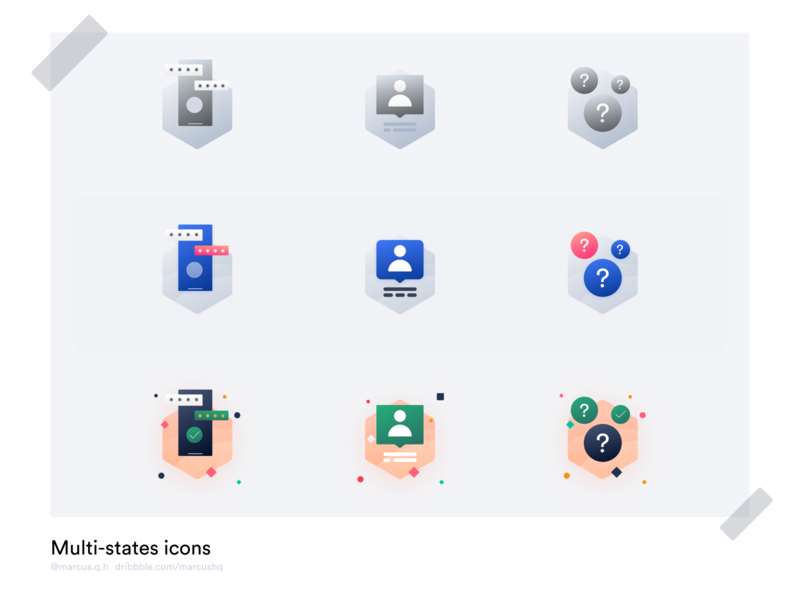 Multi-states icon